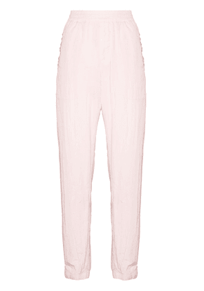 Givenchy logo-embroidered shell track pants - Pink