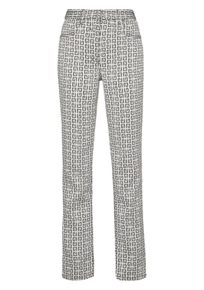 Givenchy 4G jacquard jeans - White