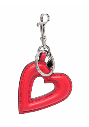 Stella McCartney heart-shaped artificial leather keychain - Red