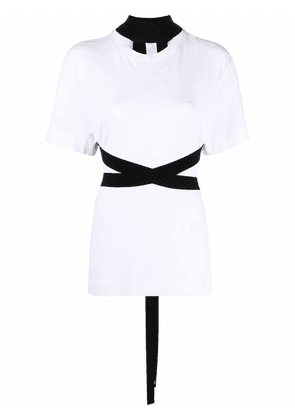 Givenchy tied-waist short-sleeve T-shirt - White