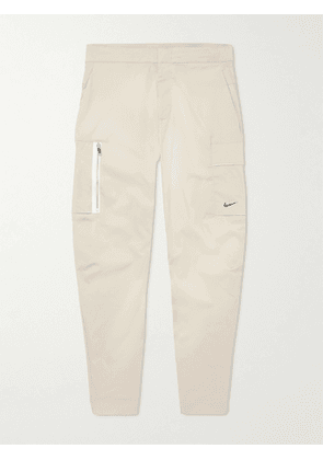 Nike - Tapered Cotton-Blend Shell Trousers - Men - Neutrals - UK/US 28