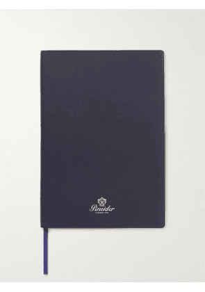Pineider - Blues Notes Printed Leather Notebook - Men - Blue