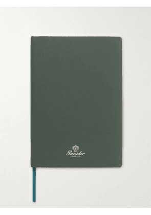 Pineider - Blues Notes Printed Leather Notebook - Men - Green