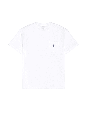 Polo Ralph Lauren Pocket Tee in White - White. Size L (also in M).