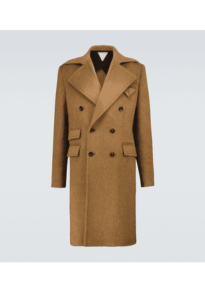 Double-faced wool and mohair coat