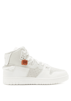 Acne Studios - Buxeda Leather And Nubuck High-top Trainers - Mens - White Multi