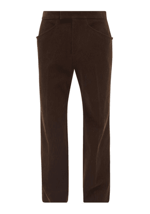 Gucci - Cotton-corduroy Relaxed-leg Trousers - Mens - Brown