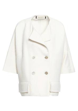 Marni Double-breasted Wool Jacket Woman Ivory Size 40