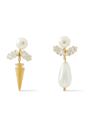 Simone Rocha Silver-tone, Crystal And Faux Pearl Earrings Woman Gold Size --