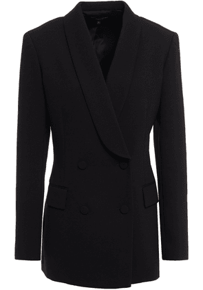 Theory Double-breasted Twill Blazer Woman Black Size 6
