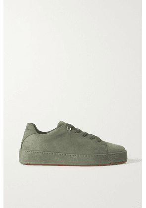 Loro Piana - Nuages Suede Sneakers - Army green