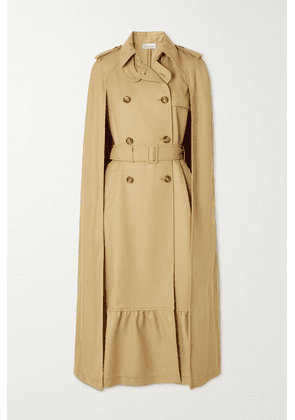REDValentino - Cape-effect Tiered Wool-twill Trench Coat - Camel