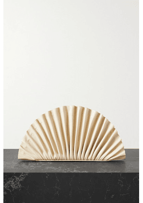 Cult Gaia - Nala Pleated Leather Clutch - Off-white