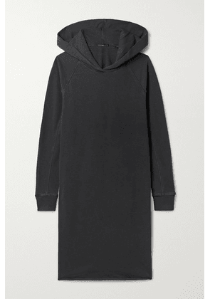 James Perse - Hooded Cotton-jersey Dress - Charcoal