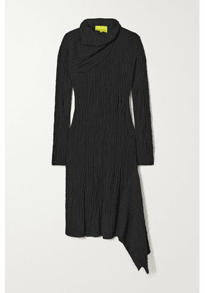 Marques' Almeida - Draped Ribbed Recycled Cotton Dress - Black