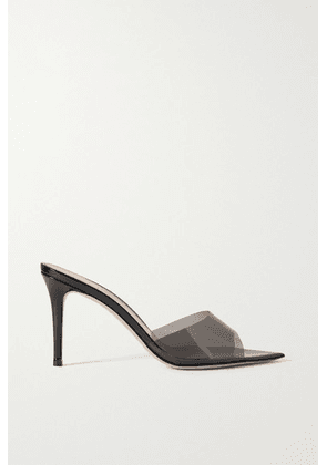 Gianvito Rossi - Elle 85 Pvc And Patent-leather Mules - Black