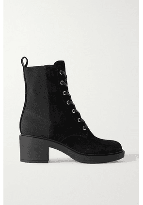 Gianvito Rossi - 45 Suede Ankle Boots - Black