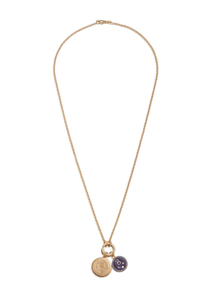 Foundrae 18K yellow gold Strength Karma necklace