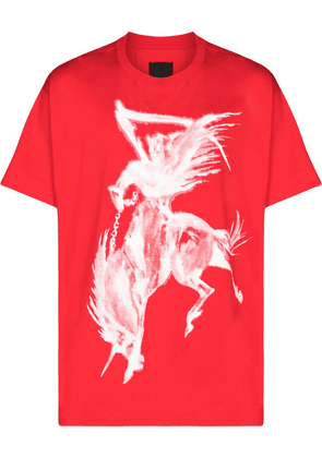 Givenchy crewneck graphic print T-shirt - Red