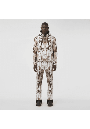 Burberry Camouflage Print Cotton Cargo Trousers