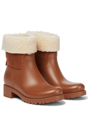 Jannet shearling-trimmed rubber boots