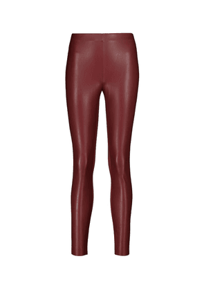 Jo faux leather and jersey leggings