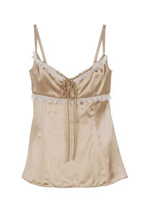 Siria lace-trimmed satin camisole