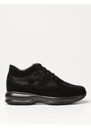 Hogan Interactive trainers in suede with rhinestone H