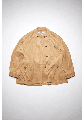Acne Studios FN-WN-OUTW000492 Light brown  Faux suede jacket