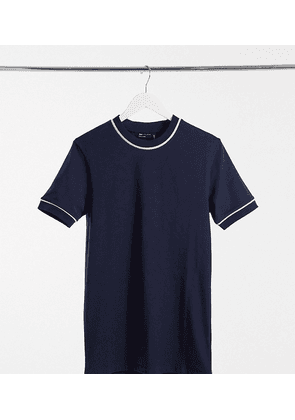 ASOS DESIGN Tall smart muscle fit t-shirt with piping detail in-Multi