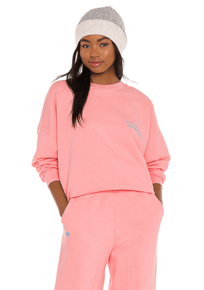 LPA Everything Is The Best Sweatshirt in Pink. Size S.