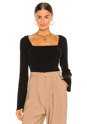 FRAME Luxe Bell Sleeve Sweater in Black. Size S, M.