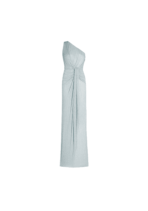 Adrianna Papell Stardust Pleated Draped Gown