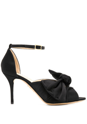 Charlotte Olympia bow front stiletto sandals - Black