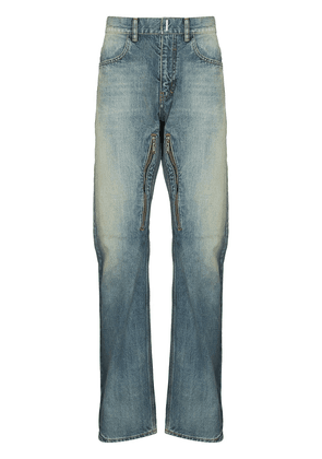 Givenchy faded zip detail straight jeans - Neutrals