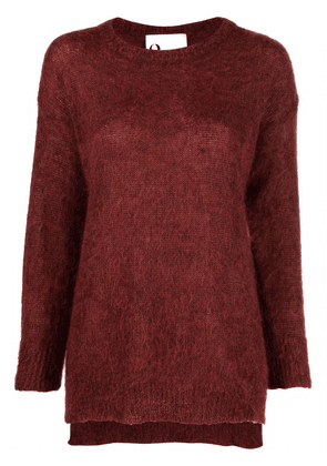 8pm long-sleeved mohair sweater - Red