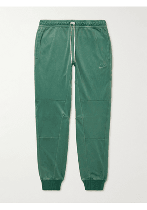Nike - Tapered Logo-Embroidered Recycled Tech-Jersey Sweatpants - Men - Green - S