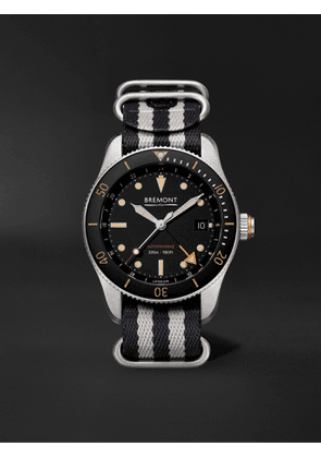 Bremont - Supermarine Automatic GMT 40mm Stainless Steel and NATO Watch, Ref. No. S302 - Men - Black