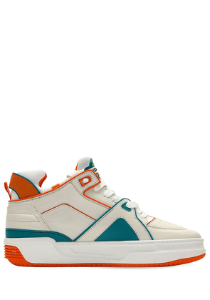 Tennis Courtside Mid Leather Sneakers