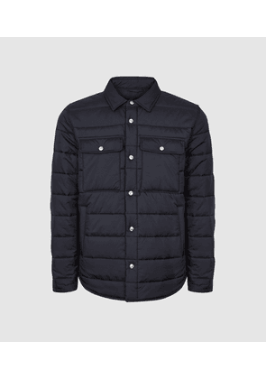 Reiss Chasey - Quilted Jacket in Navy, Mens, Size XS