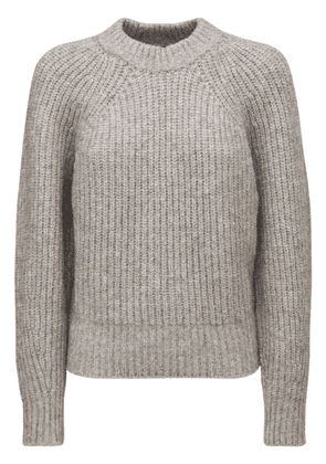 Rosy Fluffy Cotton Blend Knit Sweater
