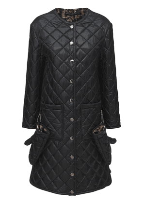 Long Nylon Quilted Coat