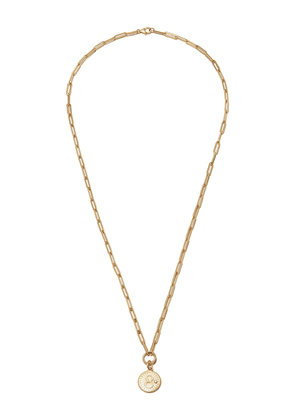 Foundrae 18kt yellow gold Karma pendant necklace