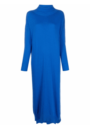 8pm roll neck knitted dress - Blue