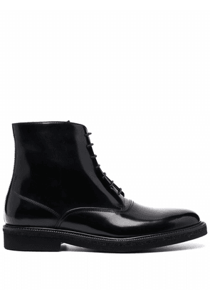 Fratelli Rossetti polished-leather lace up boots - Black