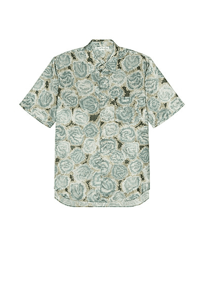 Acne Studios Short Sleeve Shirt in Pale Green - Sage. Size 46 (also in 52).