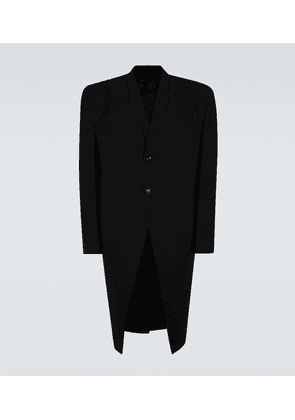 Single-breasted technical overcoat