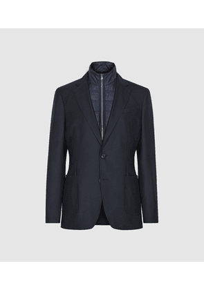 Reiss Oliver - Blazer With Removable Insert in Navy, Mens, Size 40