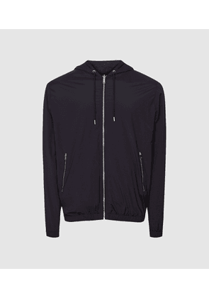 Reiss Masters - Hybrid Reversible Hooded Jacket in Navy/Charcoal, Mens, Size XS