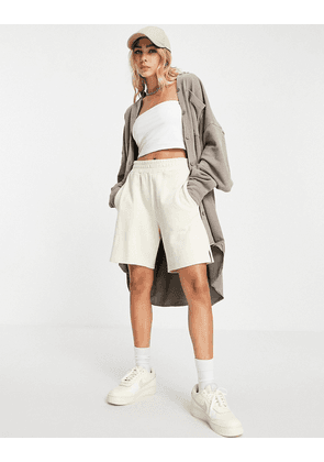 Weekday Freddie oversized shirt co-ord in mole-Neutral